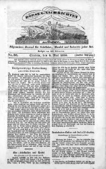 Börsen-Nachrichten der Ost-See : allgemeines Journal für Schiffahrt, Handel und Industrie jeder Art. 1836 Nr. 36