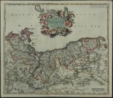 Ducatus Pomeraniae Tabula Generalis, in qua sunt Ducatus Pomeraniae, Stettinensis, Cassubiae, Vandaliae et Bardensis, Principatus Rugiae ac Insulae, Comitatus Guskoviensis, et Dominia Louwenburgense Wolgastense et Butoviense