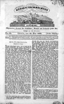 Börsen-Nachrichten der Ost-See : allgemeines Journal für Schiffahrt, Handel und Industrie jeder Art. 1836 Nr. 42