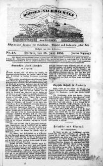 Börsen-Nachrichten der Ost-See : allgemeines Journal für Schiffahrt, Handel und Industrie jeder Art. 1836 Nr. 48