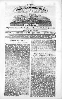 Börsen-Nachrichten der Ost-See : allgemeines Journal für Schiffahrt, Handel und Industrie jeder Art. 1836 Nr. 56