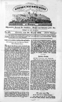 Börsen-Nachrichten der Ost-See : allgemeines Journal für Schiffahrt, Handel und Industrie jeder Art. 1836 Nr. 67