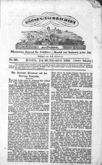 Börsen-Nachrichten der Ost-See : allgemeines Journal für Schiffahrt, Handel und Industrie jeder Art. 1836 Nr. 96