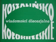 Koszalińsko-Kołobrzeskie Wiadomości Diecezjalne. R.29, 2001 nr 7-9