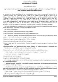 Uchwała Rady Miejskiej w Koszalinie nr XIV/148/2011