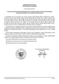 Uchwała Rady Miejskiej w Koszalinie nr XIV/152/2011