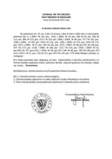 Uchwała Rady Miejskiej w Koszalinie nr XIV/166/2011