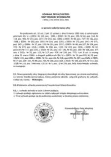 Uchwała Rady Miejskiej w Koszalinie nr XIV/169/2011