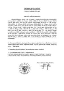 Uchwała Rady Miejskiej w Koszalinie nr XIV/171/2011