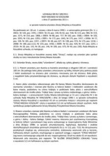 Uchwała Rady Miejskiej w Koszalinie nr XV/189/2011