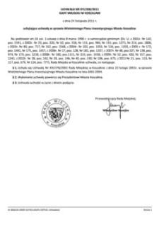 Uchwała Rady Miejskiej w Koszalinie nr XVI/200/2011