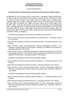 Uchwała Rady Miejskiej w Koszalinie nr XVI/203/2011