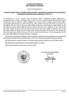 Uchwała Rady Miejskiej w Koszalinie nr XVI/208/2011