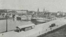 Stettin, Bahnhofbrücke mit Banhof und Rathausplatz