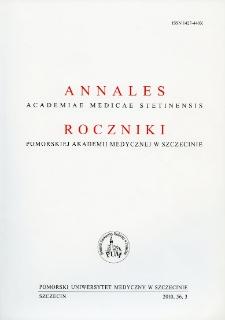Annales Academiae Medicae Stetinensis = Roczniki Pomorskiej Akademii Medycznej w Szczecinie. 2010, 56, 3