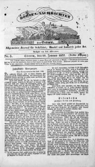 Börsen-Nachrichten der Ost-See : allgemeines Journal für Schiffahrt, Handel und Industrie jeder Art. 1837 Nr. 5
