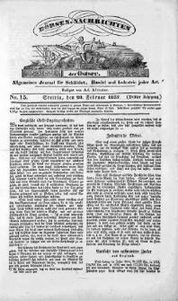 Börsen-Nachrichten der Ost-See : allgemeines Journal für Schiffahrt, Handel und Industrie jeder Art. 1837 Nr. 15
