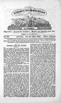 Börsen-Nachrichten der Ost-See : allgemeines Journal für Schiffahrt, Handel und Industrie jeder Art. 1837 Nr. 20