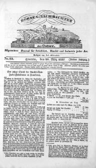 Börsen-Nachrichten der Ost-See : allgemeines Journal für Schiffahrt, Handel und Industrie jeder Art. 1837 Nr. 23