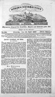 Börsen-Nachrichten der Ost-See : allgemeines Journal für Schiffahrt, Handel und Industrie jeder Art. 1837 Nr. 30