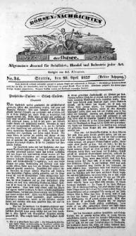 Börsen-Nachrichten der Ost-See : allgemeines Journal für Schiffahrt, Handel und Industrie jeder Art. 1837 Nr. 34