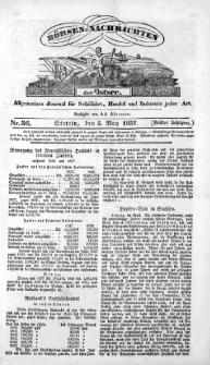 Börsen-Nachrichten der Ost-See : allgemeines Journal für Schiffahrt, Handel und Industrie jeder Art. 1837 Nr. 36