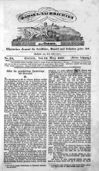 Börsen-Nachrichten der Ost-See : allgemeines Journal für Schiffahrt, Handel und Industrie jeder Art. 1837 Nr. 38