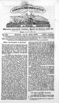 Börsen-Nachrichten der Ost-See : allgemeines Journal für Schiffahrt, Handel und Industrie jeder Art. 1837 Nr. 45