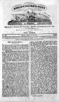 Börsen-Nachrichten der Ost-See : allgemeines Journal für Schiffahrt, Handel und Industrie jeder Art. 1837 Nr. 56