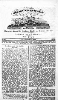 Börsen-Nachrichten der Ost-See : allgemeines Journal für Schiffahrt, Handel und Industrie jeder Art. 1837 Nr. 65