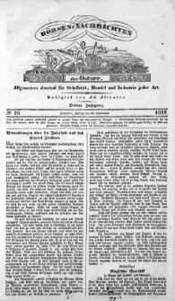 Börsen-Nachrichten der Ost-See : allgemeines Journal für Schiffahrt, Handel und Industrie jeder Art. 1837 Nr. 78