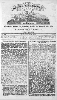Börsen-Nachrichten der Ost-See : allgemeines Journal für Schiffahrt, Handel und Industrie jeder Art. 1837 Nr. 84