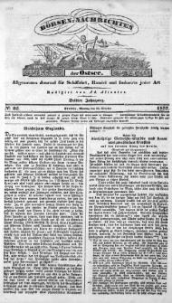 Börsen-Nachrichten der Ost-See : allgemeines Journal für Schiffahrt, Handel und Industrie jeder Art. 1837 Nr. 85