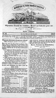 Börsen-Nachrichten der Ost-See : allgemeines Journal für Schiffahrt, Handel und Industrie jeder Art. 1837 Nr. 93