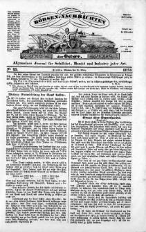 Börsen-Nachrichten der Ost-See : allgemeines Journal für Schiffahrt, Handel und Industrie jeder Art. 1838 Nr. 23