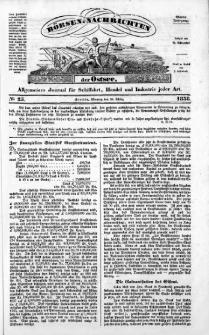 Börsen-Nachrichten der Ost-See : allgemeines Journal für Schiffahrt, Handel und Industrie jeder Art. 1838 Nr. 25