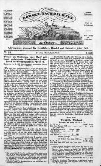 Börsen-Nachrichten der Ost-See : allgemeines Journal für Schiffahrt, Handel und Industrie jeder Art. 1838 Nr. 29
