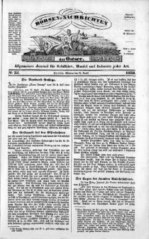 Börsen-Nachrichten der Ost-See : allgemeines Journal für Schiffahrt, Handel und Industrie jeder Art. 1838 Nr. 35