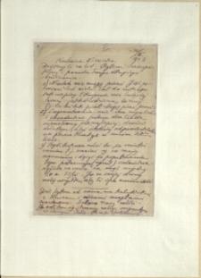 Listy Stanisława Ignacego Witkiewicza do żony Jadwigi z Unrugów Witkiewiczowej. List z 30.03.1923