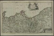 Carte geographique du Duché de Pomeraniae et Mecklenbourg mise en lumierre