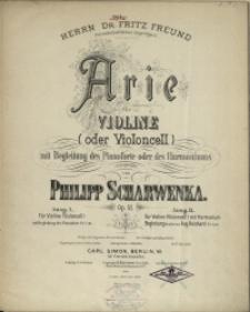 Arie : für Violine (oder Violoncell) mit Begleitung des Pianoforte oder des Harmonius : Op. 51