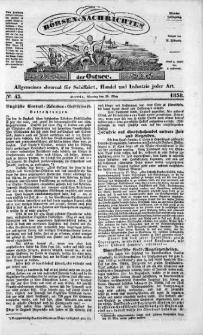 Börsen-Nachrichten der Ost-See : allgemeines Journal für Schiffahrt, Handel und Industrie jeder Art. 1838 Nr. 43