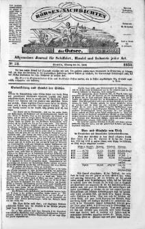 Börsen-Nachrichten der Ost-See : allgemeines Journal für Schiffahrt, Handel und Industrie jeder Art. 1838 Nr. 51
