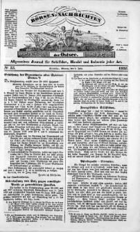 Börsen-Nachrichten der Ost-See : allgemeines Journal für Schiffahrt, Handel und Industrie jeder Art. 1838 Nr. 56