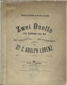Zwei Duette : für Sopran und Alt : mit Begleitung des Pianoforte : Op. 13