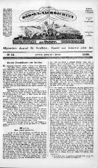 Börsen-Nachrichten der Ost-See : allgemeines Journal für Schiffahrt, Handel und Industrie jeder Art. 1840 Nr. 11