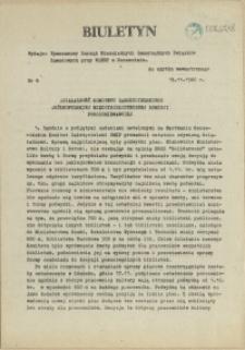 Biuletyn : Tymczasowy Zarząd Niezależnych Samorządnych Związków Zawodowych przy WiMBP w Szczecinie. 1980 nr 6