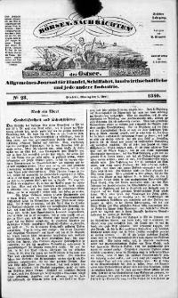Börsen-Nachrichten der Ost-See : allgemeines Journal für Schiffahrt, Handel und Industrie jeder Art. 1840 Nr. 28
