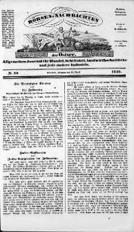 Börsen-Nachrichten der Ost-See : allgemeines Journal für Schiffahrt, Handel und Industrie jeder Art. 1840 Nr. 30
