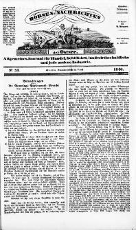 Börsen-Nachrichten der Ost-See : allgemeines Journal für Schiffahrt, Handel und Industrie jeder Art. 1840 Nr. 31